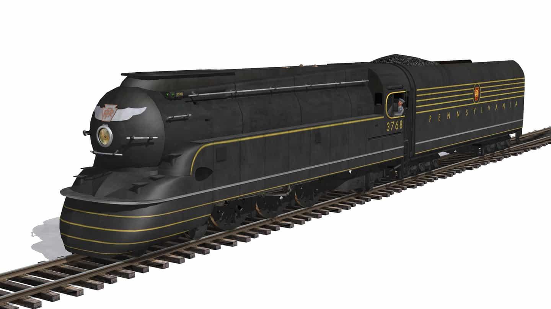 A Pennsylvania Railroad K4 Pacific 4-6-2 Streamlined Steam