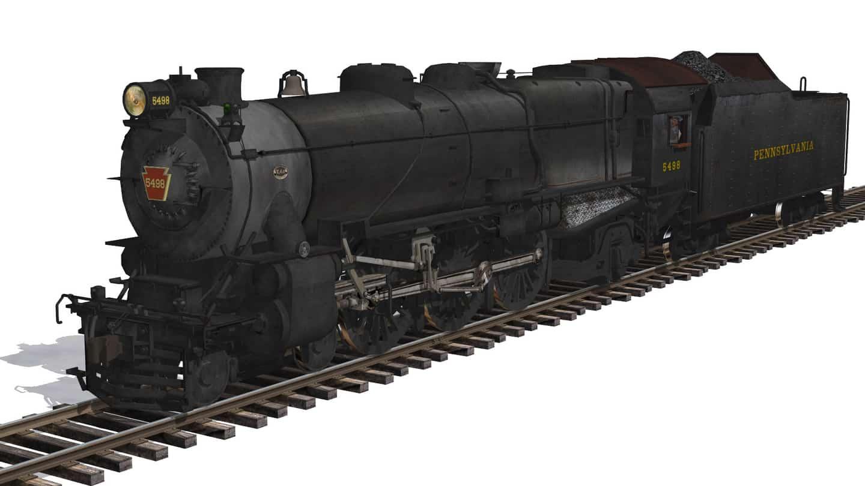 Pennsylvania Railroad (PRR) K4s 4-6-2 Pacific No. 3768 in